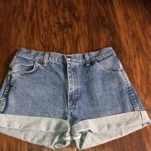 Rustler Jeans made into shorts